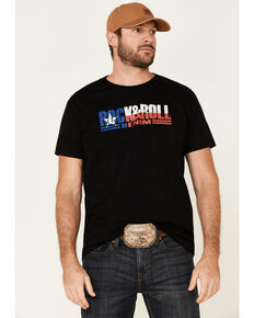 Rock & Roll Denim Men's Texas Flag Logo Graphic T-Shirt , Black, hi-res