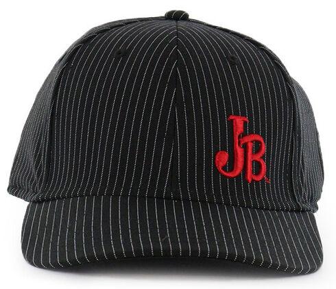 Justin Men's Pin Stripe Flex Ball Cap  , Black, hi-res