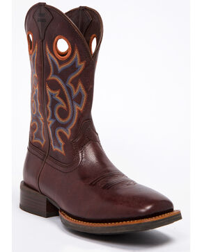 Cody James Men's Xero Chocolate Western Boots - Wide Square Toe, Brown, hi-res