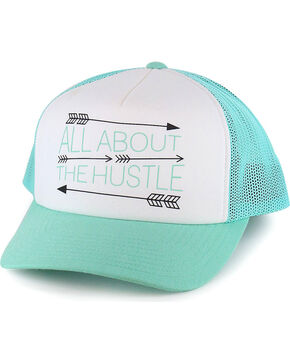 Hooey Women's Turquoise All About The Hustle Baseball Cap , Turquoise, hi-res
