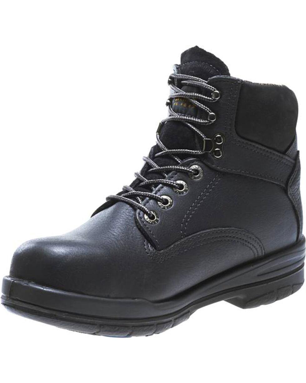 "Wolverine's Men's DuraShocks SR 6"" Work Boots - Steel Toe, Black, hi-res"