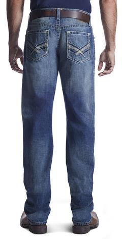 Ariat Men's M2 Kingston Rowell Boot Cut Jeans , Med Blue, hi-res