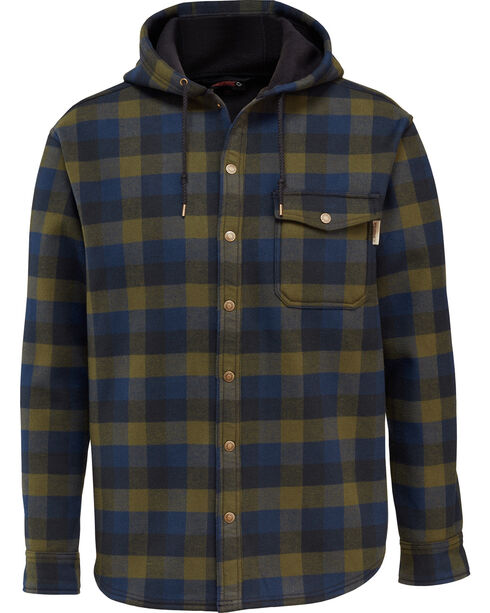 Wolverine Men's Bucksaw Bonded Shirt Jac , Hunter Green, hi-res