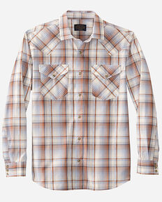 Pendleton Men's Multi Frontier Plaid Long Sleeve Snap Western Shirt , Multi, hi-res