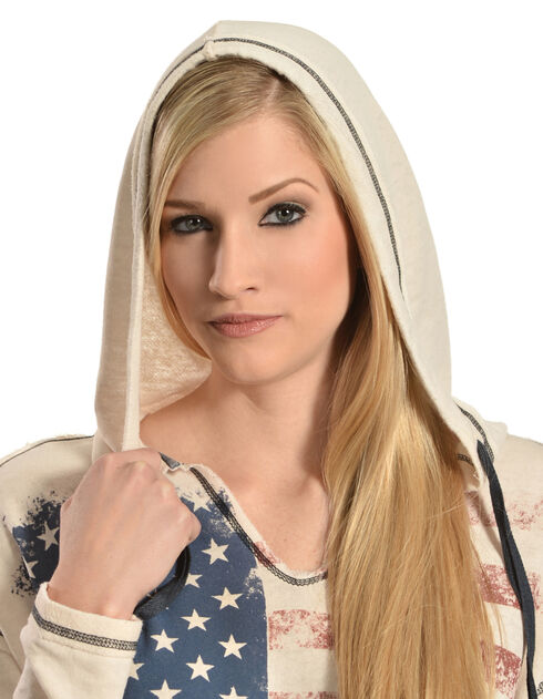Others Follow Women's Patriot Hooded Top, Sand, hi-res