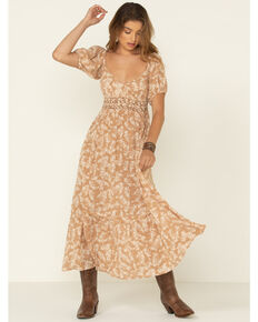 Free People Women's Ellie Print Maxi Dress, Natural, hi-res
