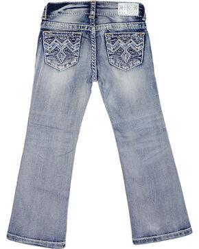 Grace in LA Girls' (4-6X) Light Wash Blue Stitched Jeans - Boot Cut , Blue, hi-res