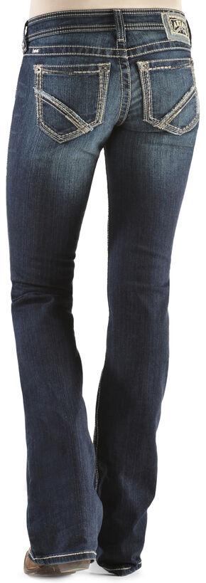 Ariat Women's Ruby Frayed Edge Loveless Bootcut Jeans, Denim, hi-res