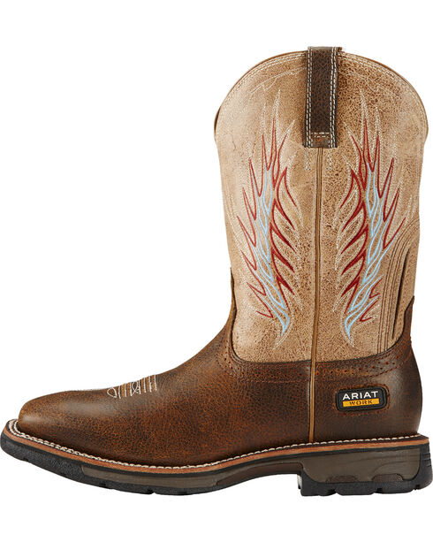 Ariat Rustic Stone Workhog Mesteno II Cowboy Work Boots - Composite Toe , Brown, hi-res