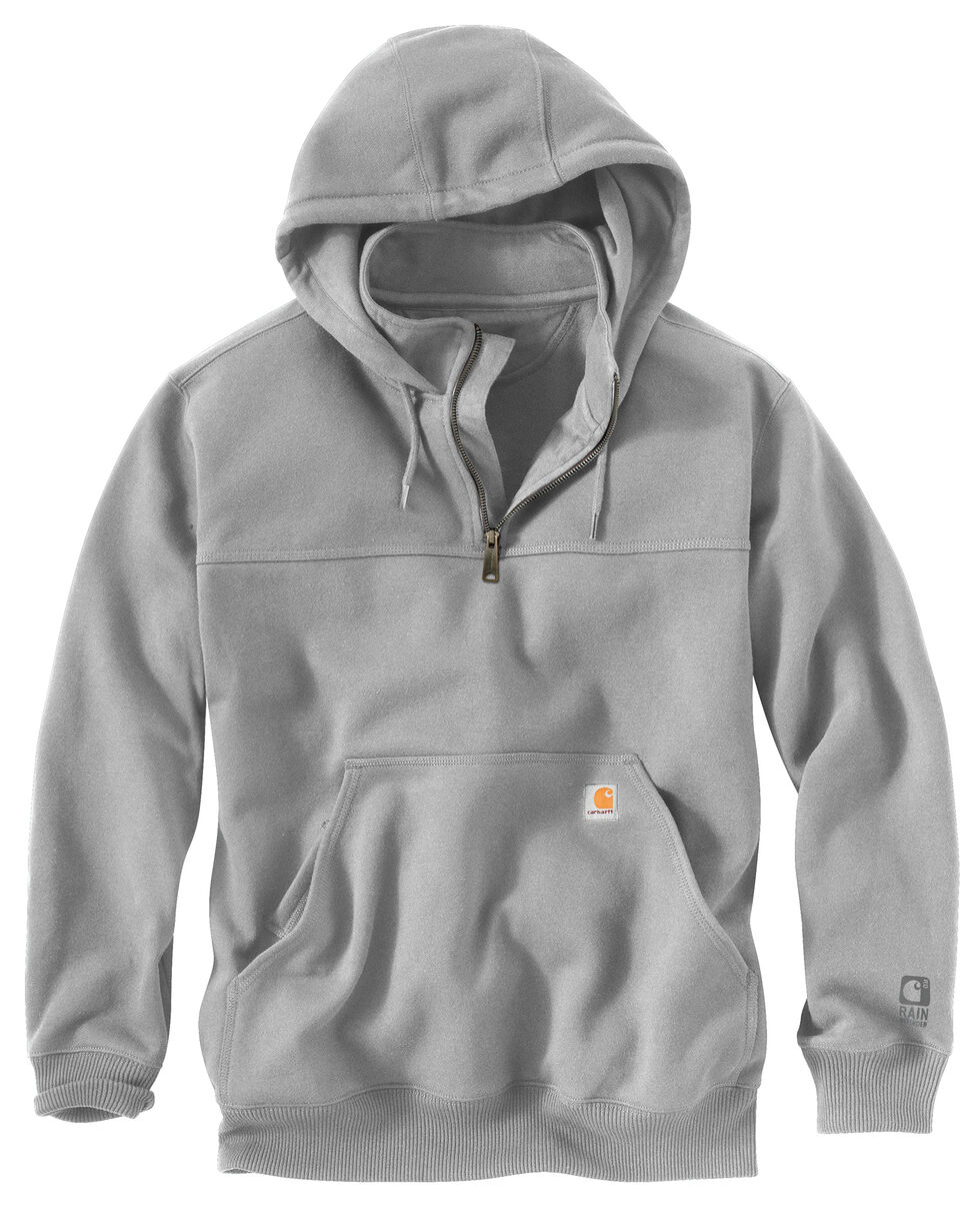 Carhartt Rain Defender Paxton Hooded Zip Mock Sweatshirt, Hthr Grey, hi-res