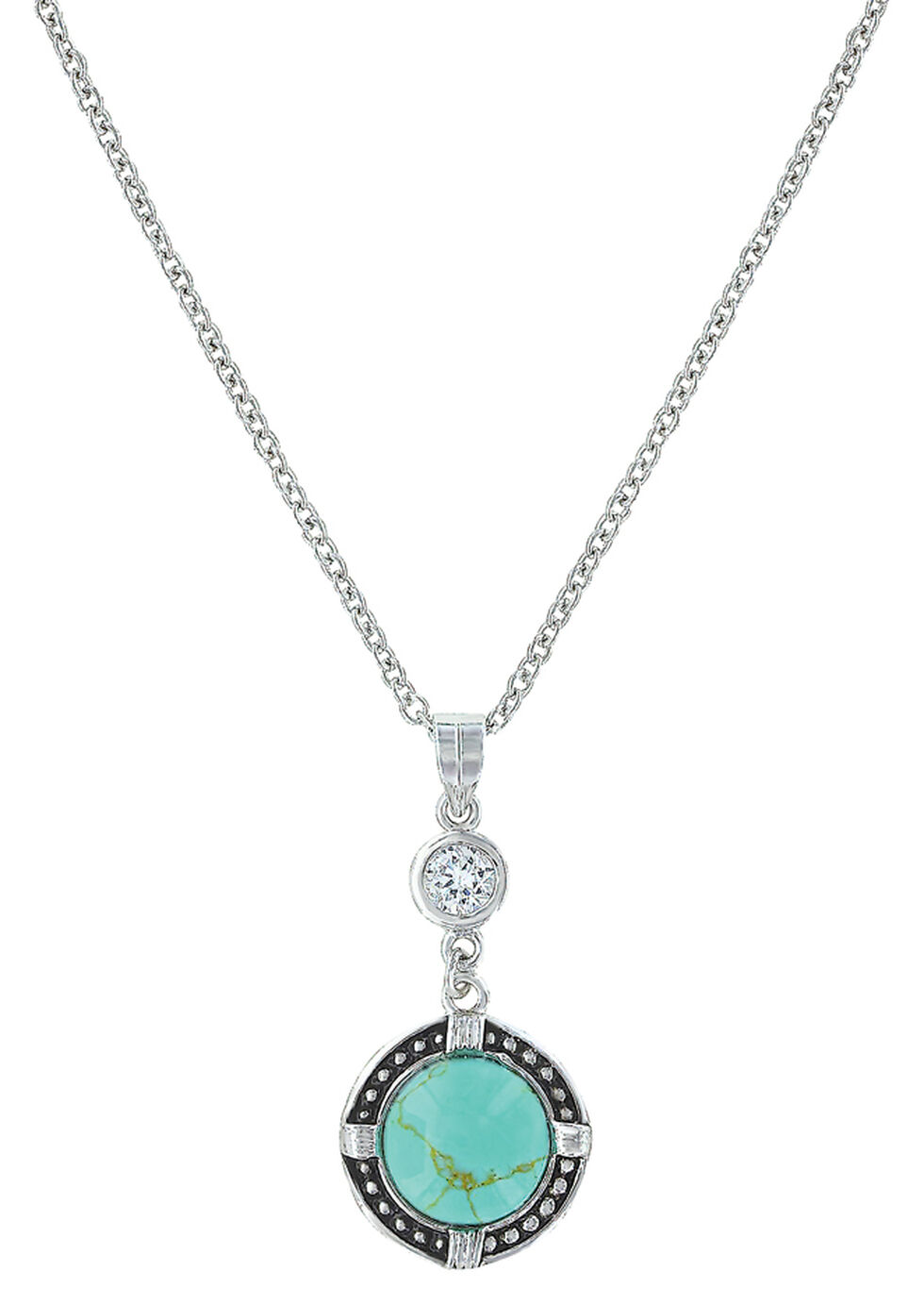 Montana Silversmiths Women's True North Turquoise Necklace , Turquoise, hi-res