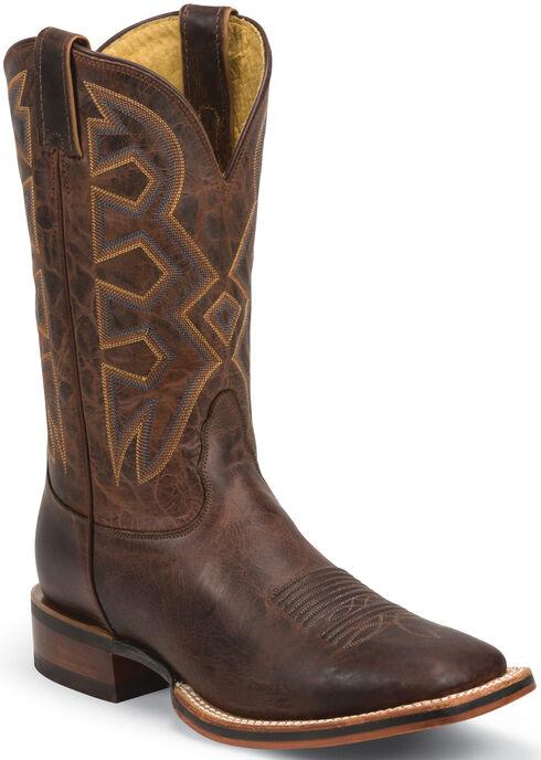 Nocona Cognac Zulu Let's Rodeo Western Boots - Square Toe , Cognac, hi-res