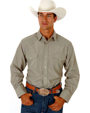 Roper Men's Tone On Tone Long Sleeve Western Shirt, , hi-res