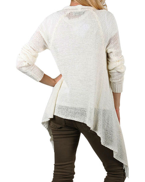 Shyanne Women's Fringe Hem Knit Sweater , No Color, hi-res