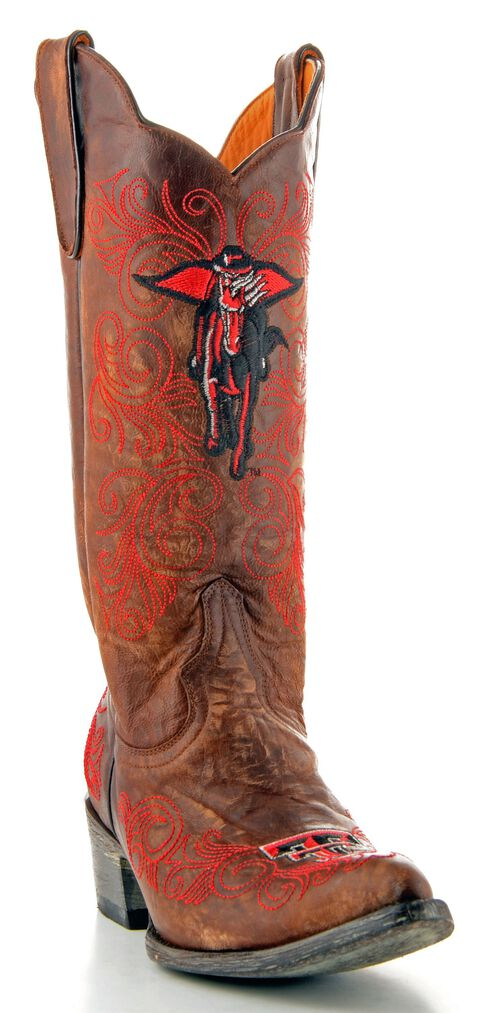 Gameday Texas Tech Cowgirl Boots - Pointed Toe, Brass, hi-res