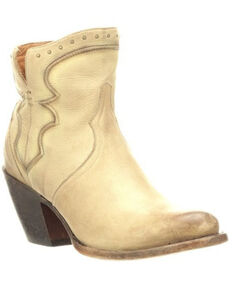 Lucchese Women's Karla Fashion Booties - Round Toe, Natural, hi-res