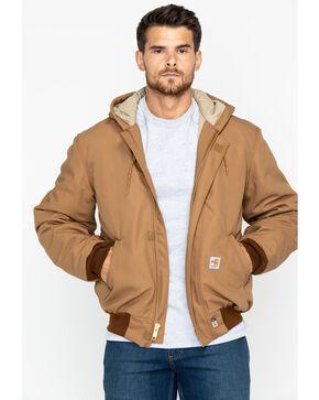 Carhartt Flame-Resistant Duck Active Hooded Jacket, Carhartt Brown, hi-res