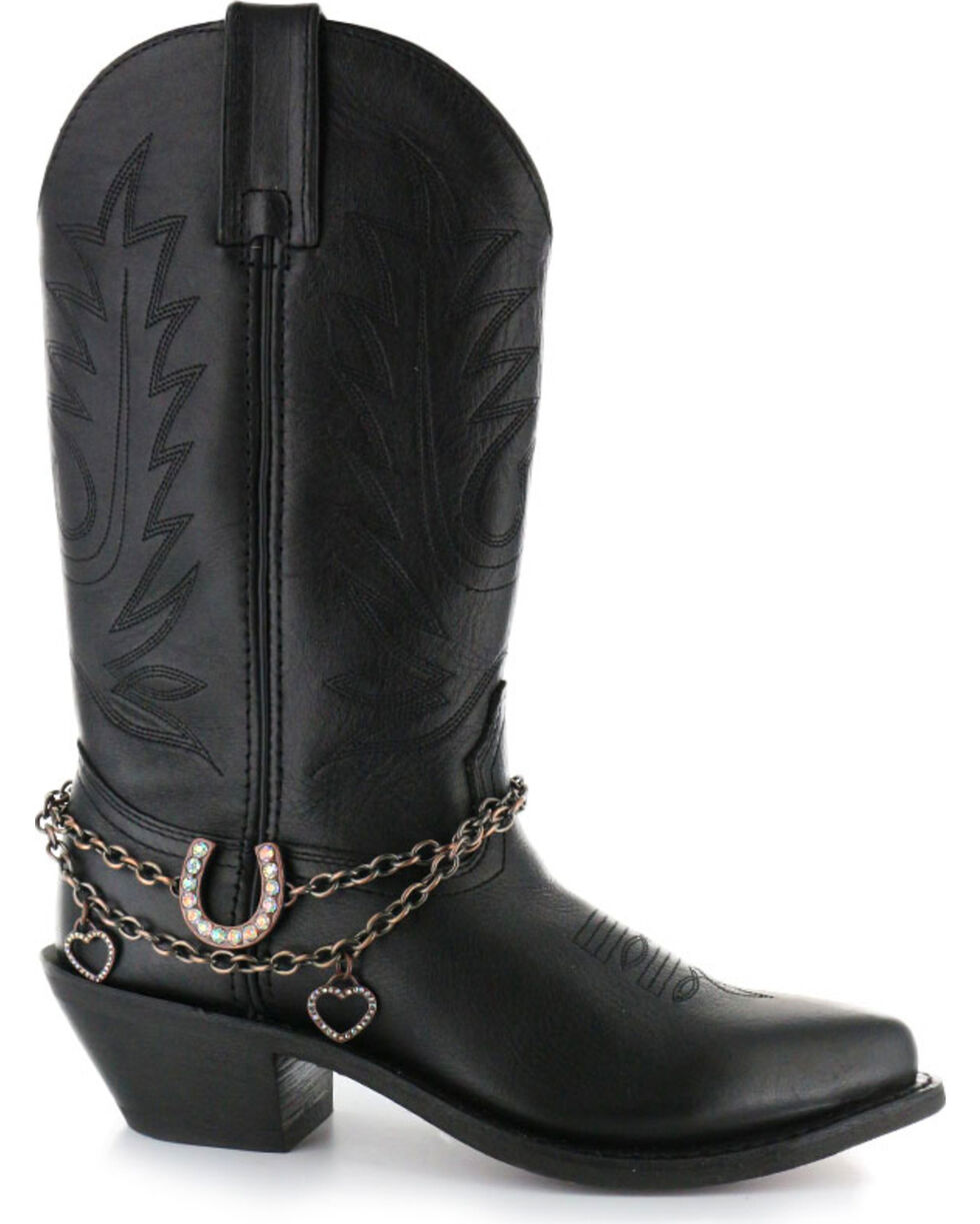 Shyanne Women's Horseshoe Boot Bracelet, Brown, hi-res