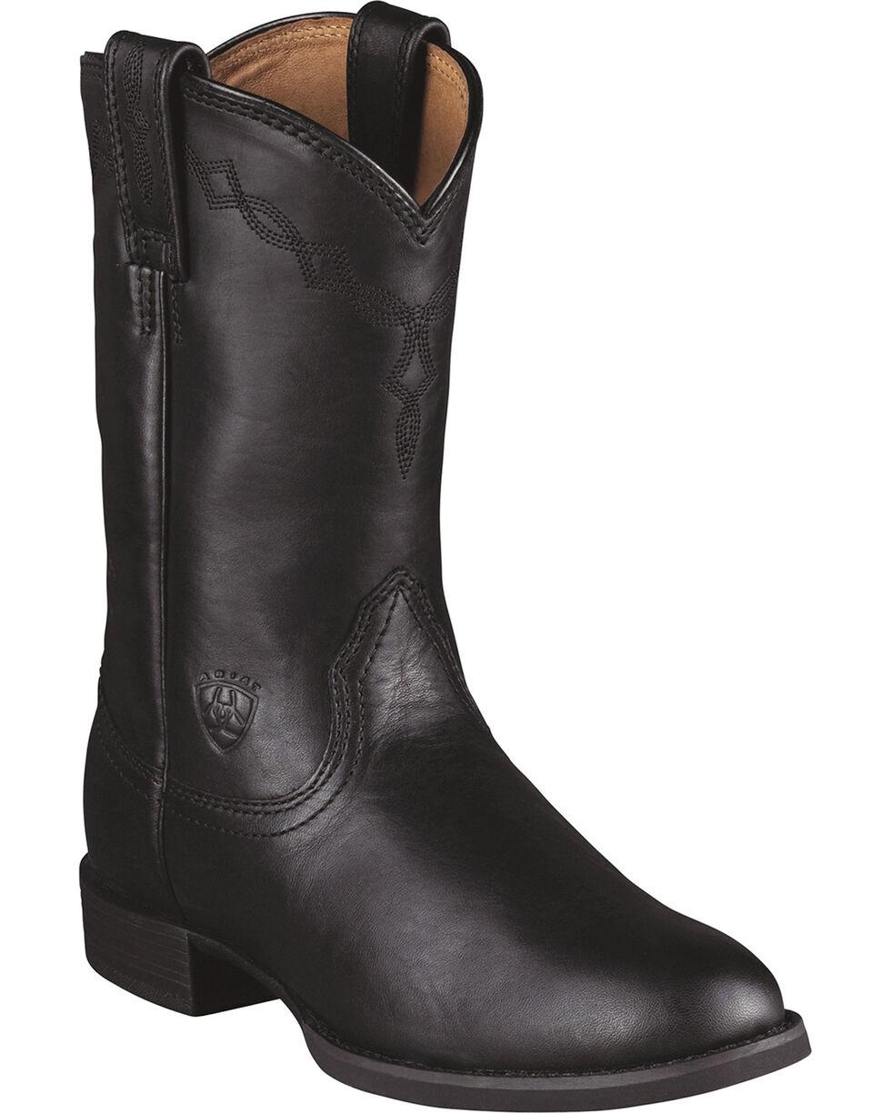 Women's Ariat Heritage Roper Boots, Black, hi-res
