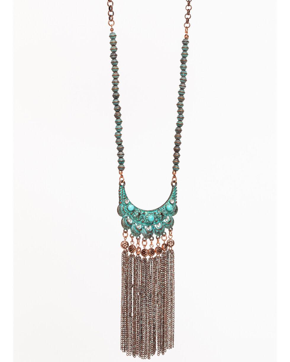 Shyanne Women's La Rosita Fringe Pendant Necklace, Turquoise, hi-res