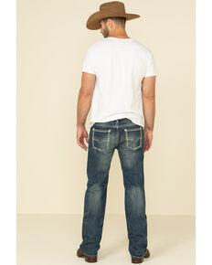 Rock & Roll Denim Men's Pistol Dark Vintage Regular Straight Jeans , Blue, hi-res