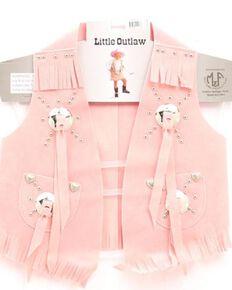 M&F Western Girls' Faux Suede Vest, Pink, hi-res