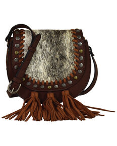 Tony Lama Women's Hair-On Crossbody Bag, Brown, hi-res