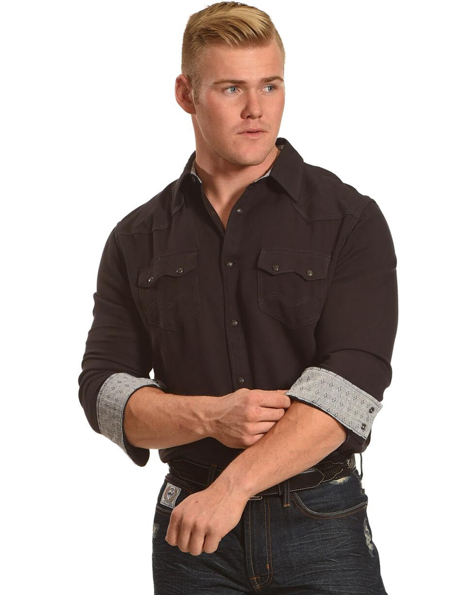 Moonshine Spirit Men's Bandwidth Long Sleeve Shirt , Black, hi-res