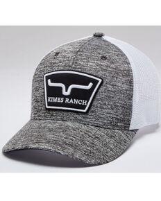 Kimes Ranch Men's Heather Grey Hardball Logo Patch Mesh-Back Trucker Cap, Heather Grey, hi-res