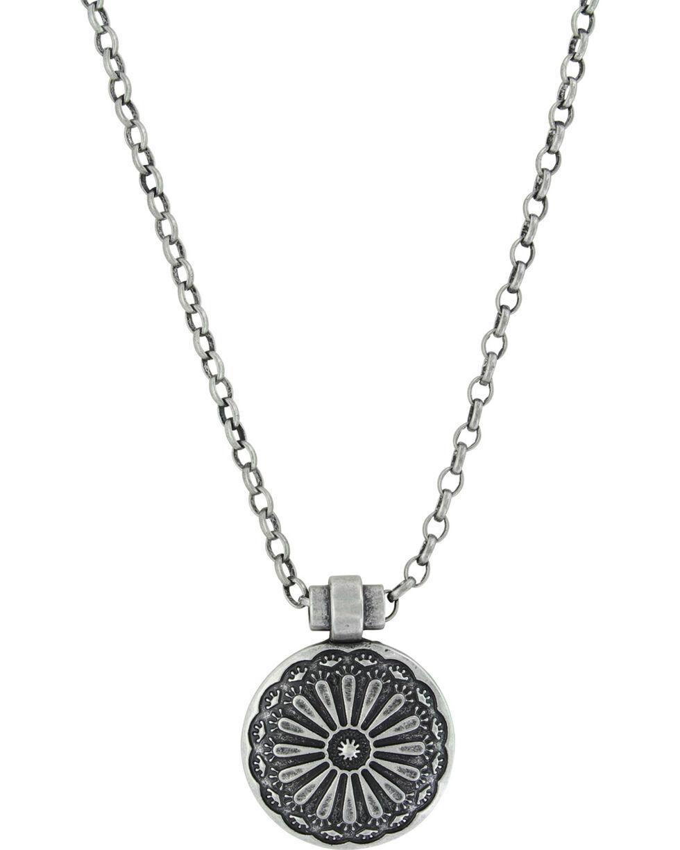 Montana Silversmiths Women's Silver Sunflower Necklace , Silver, hi-res