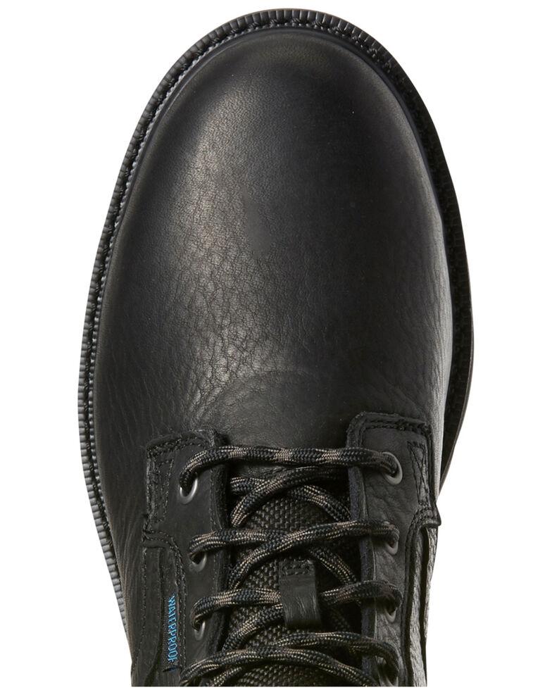 Ariat Men's Black Groundbreaker Waterproof Work Boots - Steel Toe, Black, hi-res