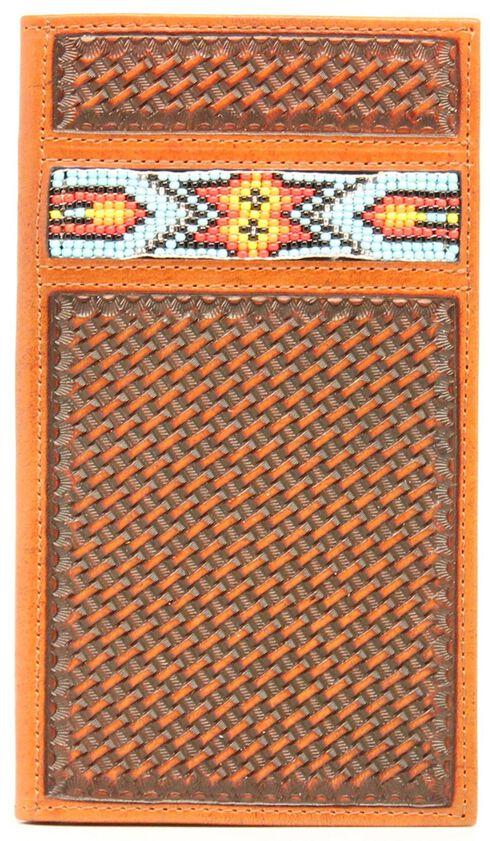 Nocona Aztec Beaded Basketweave Rodeo Wallet, , hi-res