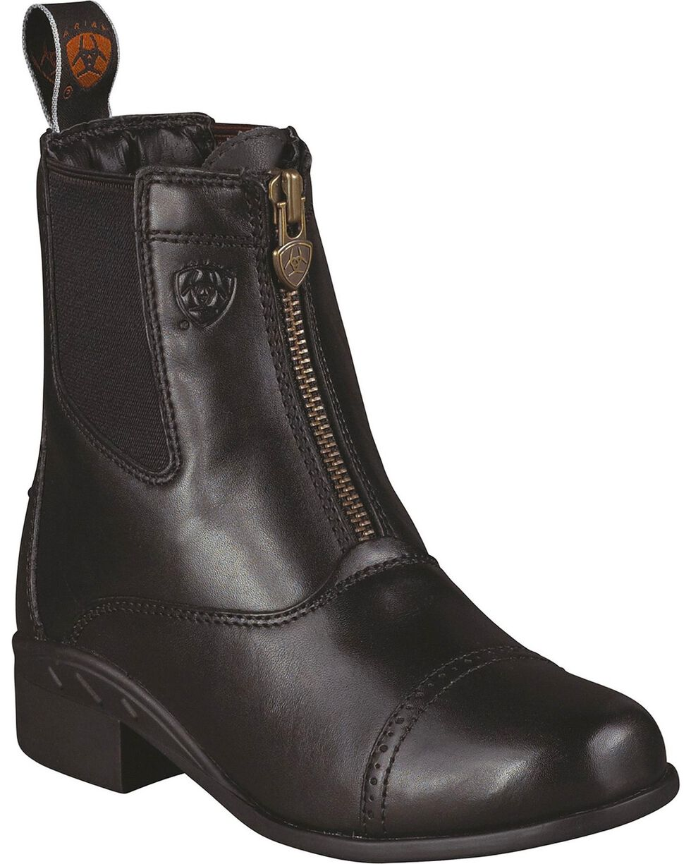 Ariat Youth Boys' Devon Ankle Riding Boots, Black, hi-res