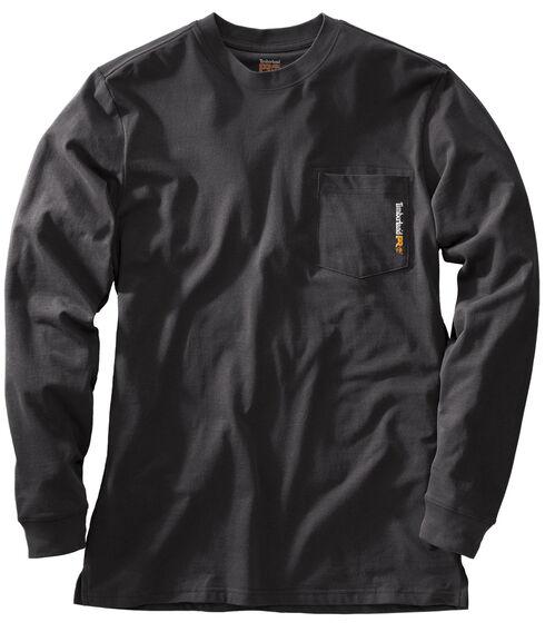 Timberland PRO Men's Base Plate Blended Long Sleeve T-Shirt, Black, hi-res
