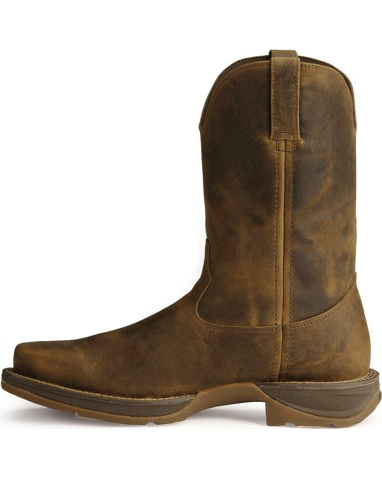 Durango Rebel Men's Pull-On Western Boots - Square Toe, Brown, hi-res