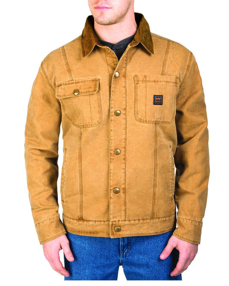Walls Men's Amarillo Cotton Twill Jacket, Pecan, hi-res