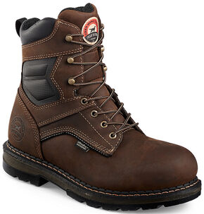 "Irish Setter by Red Wing Shoes Men's Ramsey EH Waterproof 8"" Work Boots -  Soft Round Toe , Brown, hi-res"