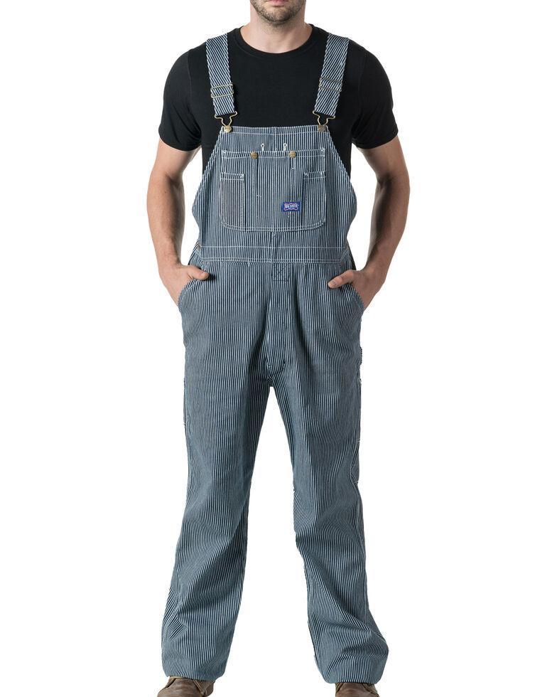 Walls Big Smith Men's Hickory Stripe Bib Overall, Indigo, hi-res