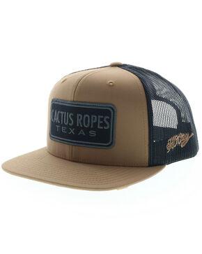 HOOey Men's Cactus Ropes Black Mesh Trucker Cap, Black, hi-res