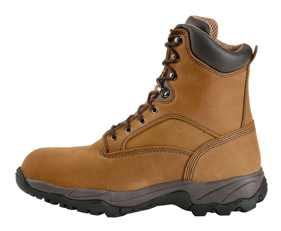 "Chippewa Waterproof & Insulated Bay Apache 8"" Lace-Up Work Boots - Composite Toe, Bay Apache, hi-res"