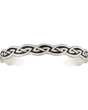 Montana Silversmiths Rippling Silver-Tone Plait Cuff Bracelet, Silver, hi-res