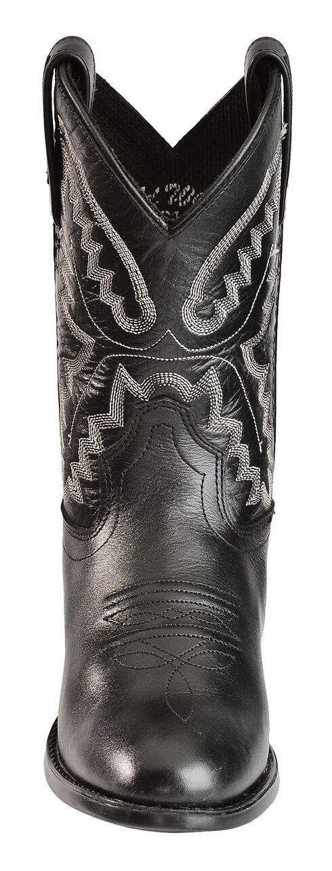 Old West Boys' Ultra Flex Black Cowboy Boots, Black, hi-res