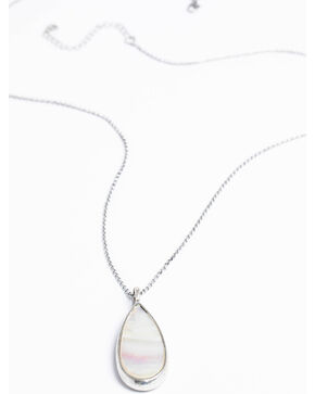 Shyanne Women's Reversible White Stone Necklace, Silver, hi-res