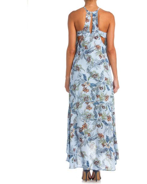 Miss Me Floral Print Maxi Dress, Light Blue, hi-res