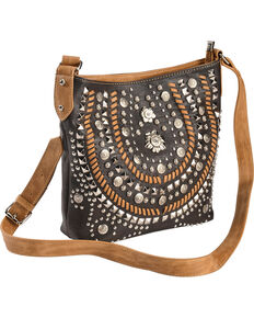 Montana West Womens Coffee Concealed Carry Horseshoe Crossbody Bag Brown Hi Res