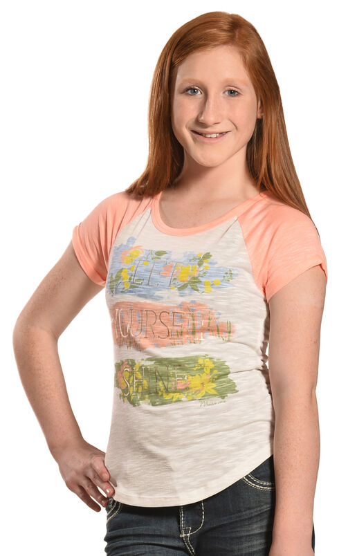 Miss Me Girls' Let Yourself Shine Tee, Pink, hi-res