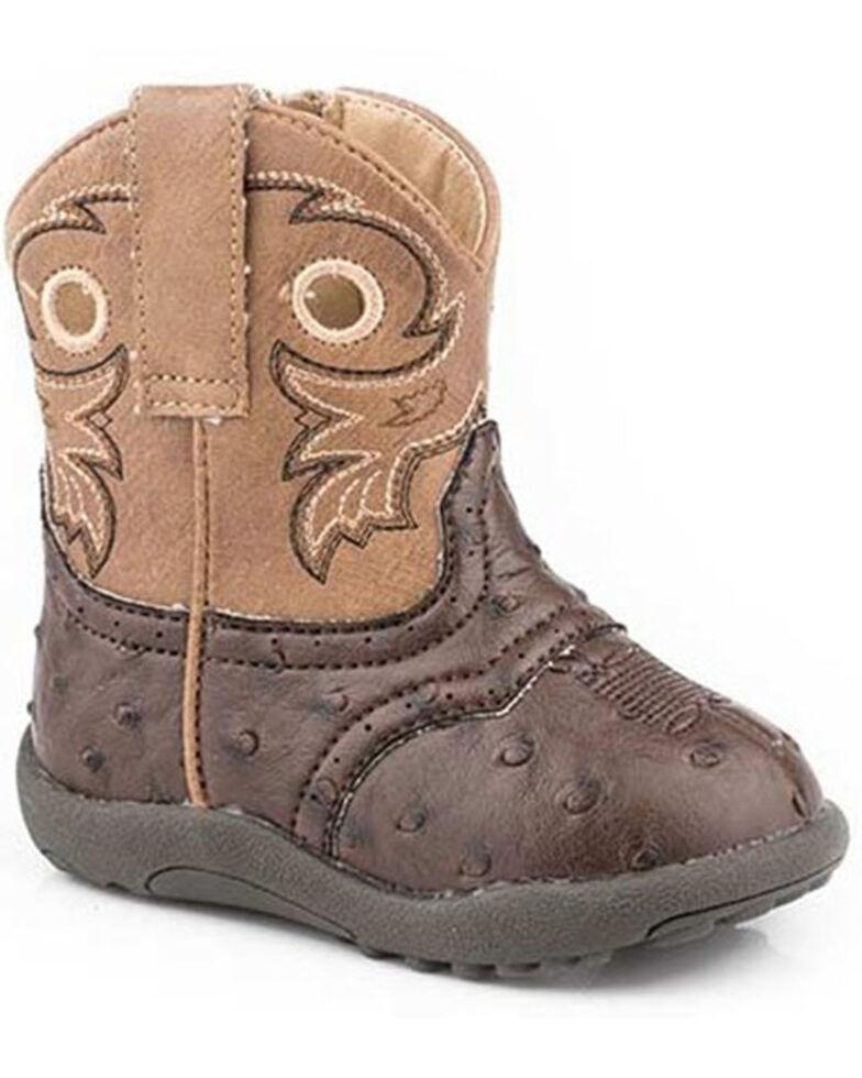 Roper Infant Boys' Daniel Poppet Boots - Round Toe, Brown, hi-res