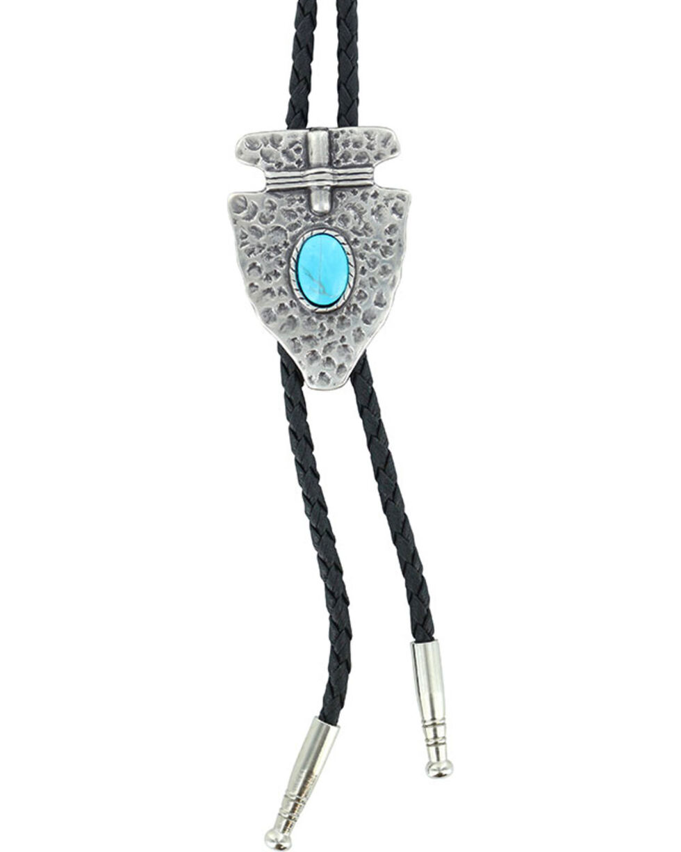 Cody James® Men's Native Arrow Bolo Tie, Silver, hi-res