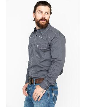 Cowboy Hardware Men's Geo Print Long Sleeve Western Shirt , Black, hi-res