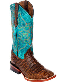 8f6374ac9f2 Ferrini Womens Belly Print Cowgirl Boots - Square Toe